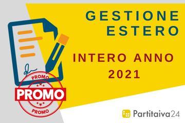 Gestione Estero - canone annuale 2021